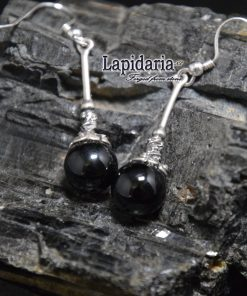 product Zwarte toermalijn oorbellen